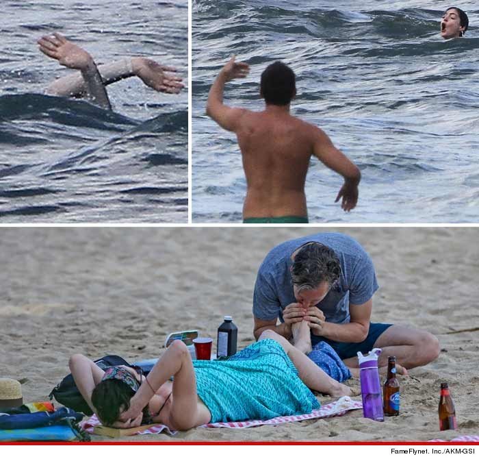 Anne Hathaway — Near-Death Encounter … Gets Mouth-to-Toe Resuscitation