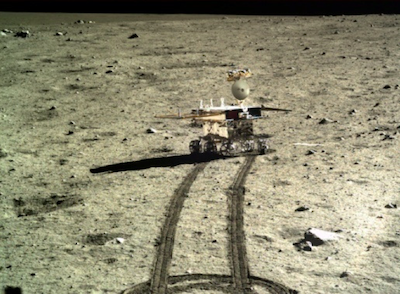 Lunar rover wakes up after near-death experience
