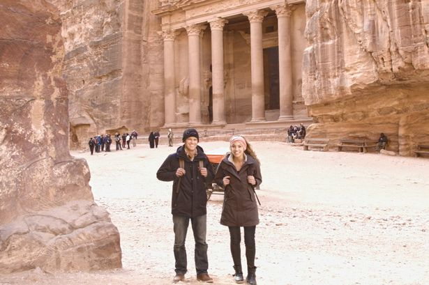 Trio of near-death experiences inspires woman's globe-trotting trip with man …