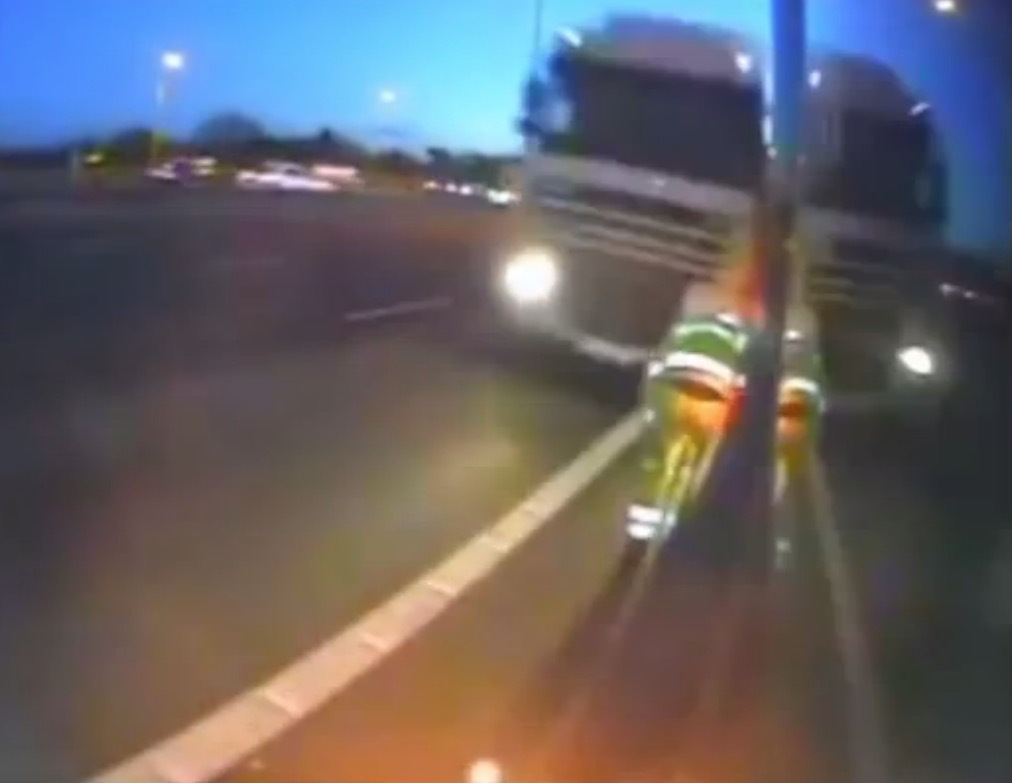 This Is What a Literally Near Death Experience Looks like on the Highway – Video