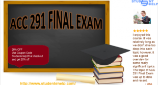 ACC 291 Final Exam Answers – Principles of Accounting II – ACC 291