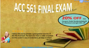 Accounting 561 Final Exam Questions and Answers – ACC 561 Wiley Plus Final Exam