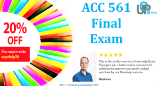 ACC 561, Accounting 561 Final Exam Answers