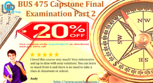 BUS 475 Capstone Final Examination Part 2 with 100 Questions