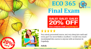 ECO 365 Final Exam Answers 2014 Part 1