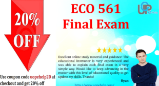 ECO 561 Final Exam 2016 With 39 Questions and Answers