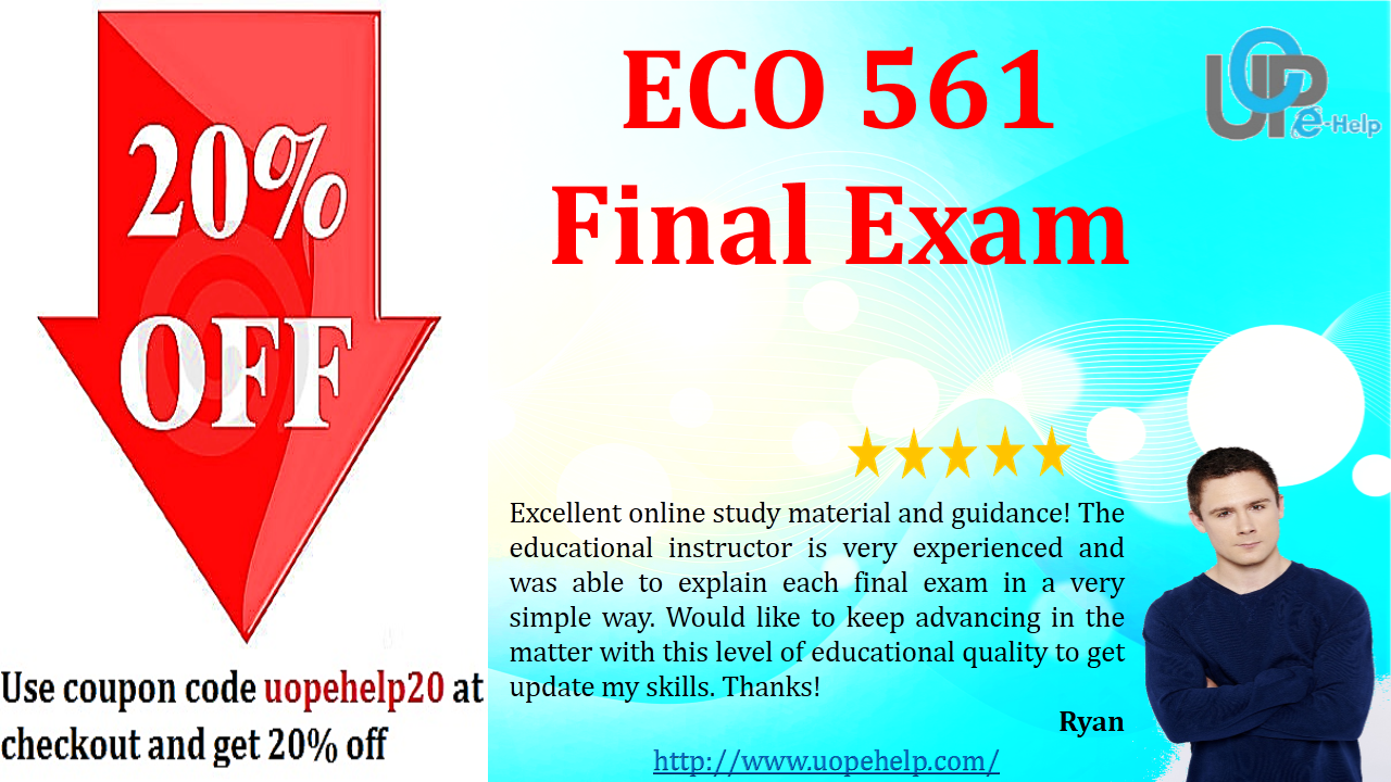 final exam eco We have many classes for strayer, email us at ewood6449@gmailcom if you need help with eco 550 final exam, problems, assignments and discussion questions or may be your other classes.