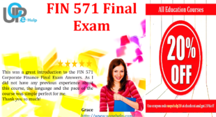 FIN 571 Final Exam 2016 Answers Free