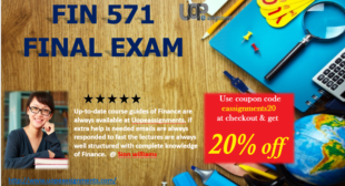 FIN 571 Final Exam 2016 Week 6 Answers with 30 Questions for University of Phoenix