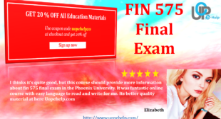 FIN 575 Final Exam Answers Free