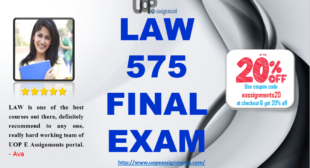 LAW 575 Final Exam 2016 Week 4 Answers For University of Phoenix