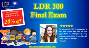 LDR 300 Week 1 to 5 Final Exam 2016 Answers Free with 30 Questions