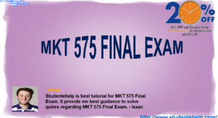 MKT 575 Final Exam MKT/575 Strategic Marketing Final Examination University of Phoenix