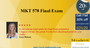 MKT 578 Final Exam – MKT 578 Final Exam Questions and Answers – MKT 578 Calculator