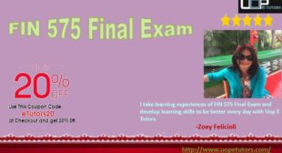 FIN 575 Final Exam Questions and Answers free with FIN 575 Project Budget & Finance