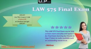 LAW 575 Final Exam University of Phoenix LAW 575 Questions and Answers