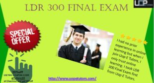 LDR 300 Final Exam Answers free with 30 Questions for Week 5 LDR 300 Innovative Leadership Exam