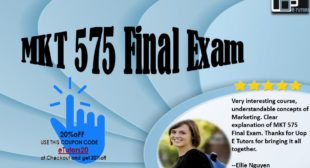 University of Phoenix MKT 575 Final Exam for Strategic Marketing Final Examination