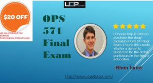 OPS 571 Final Exam 2016 with Answers Free | Uop etutors