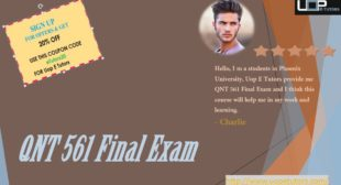 Find Best 30 Questions and Answers of QNT 561 Final Exam 2016 | Uop etutors