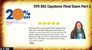 Buy STR 581 Capstone Final Examination Part 2 Answers Online at Uopetutors | Uop etutors