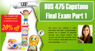 New 2017 Answer Sheet Part 1 for BUS 475 Capstone Final Exam
