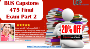 New 2017 Answer Sheet Part 2 for BUS 475 Capstone Final Exam