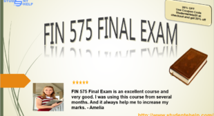 New FIN 575 Final Exam Solutions for Project Budget and Finance