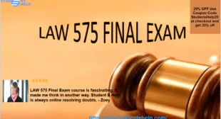 Law 575 Final Exam Answers Online Tutorials for University of Phoenix