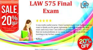 LAW 575 Final Exam 2016 Online Course, Questions and Answers
