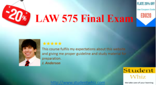 LAW 575 Final Exam Answers Guide for University of Phoenix