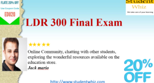 LDR 300 Final Exam | Answers and 30 Questions | Innovative Leadership – ldr300