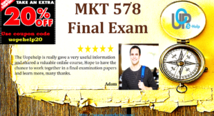MKT 578 Final Exam, Marketing Questions and Answers