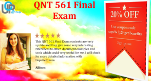 QNT 561 Final Exam 30 Questions 2016 for UOP