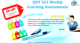 QNT 561 Weekly Learning Assessments Answers Free