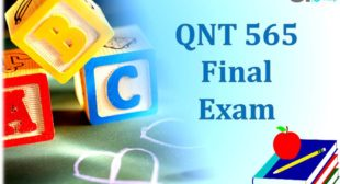 QNT 565 Final Exam Questions and Answers Free